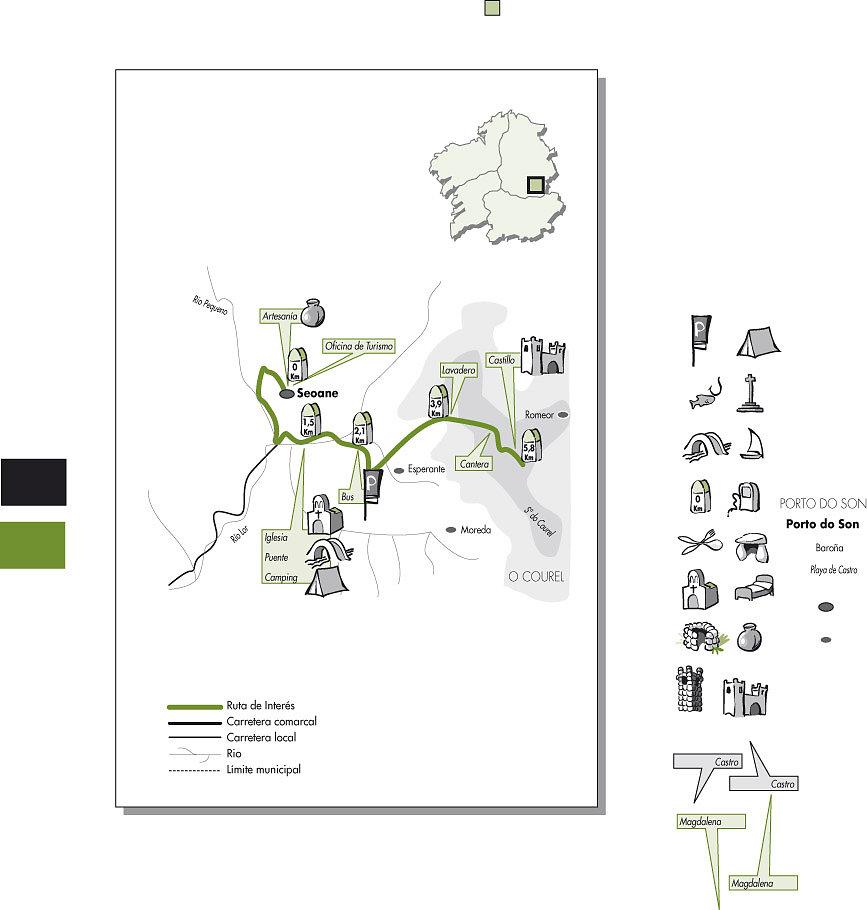 Ruta cicloturista Courel + iconos