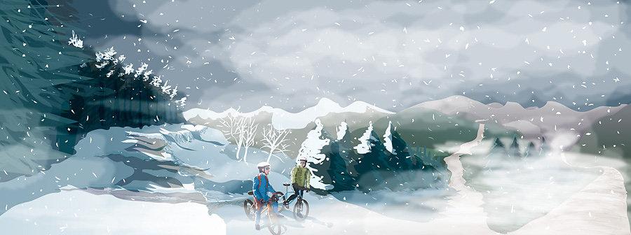 Perdidos entre la nieve